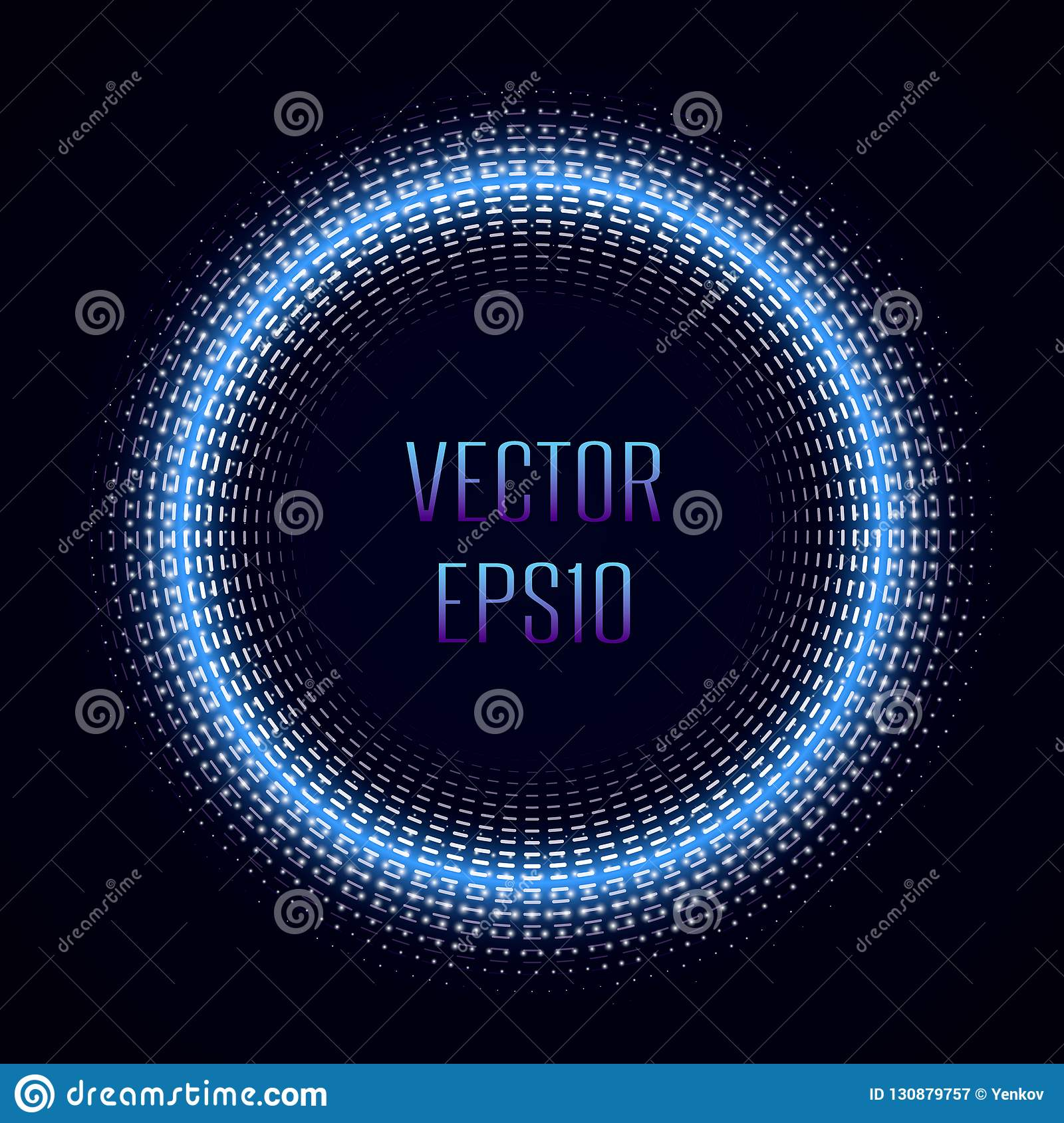 Abstract Halftone circle vector frame with Glowing abstract random dots. Abstract colored shape for your business idea
