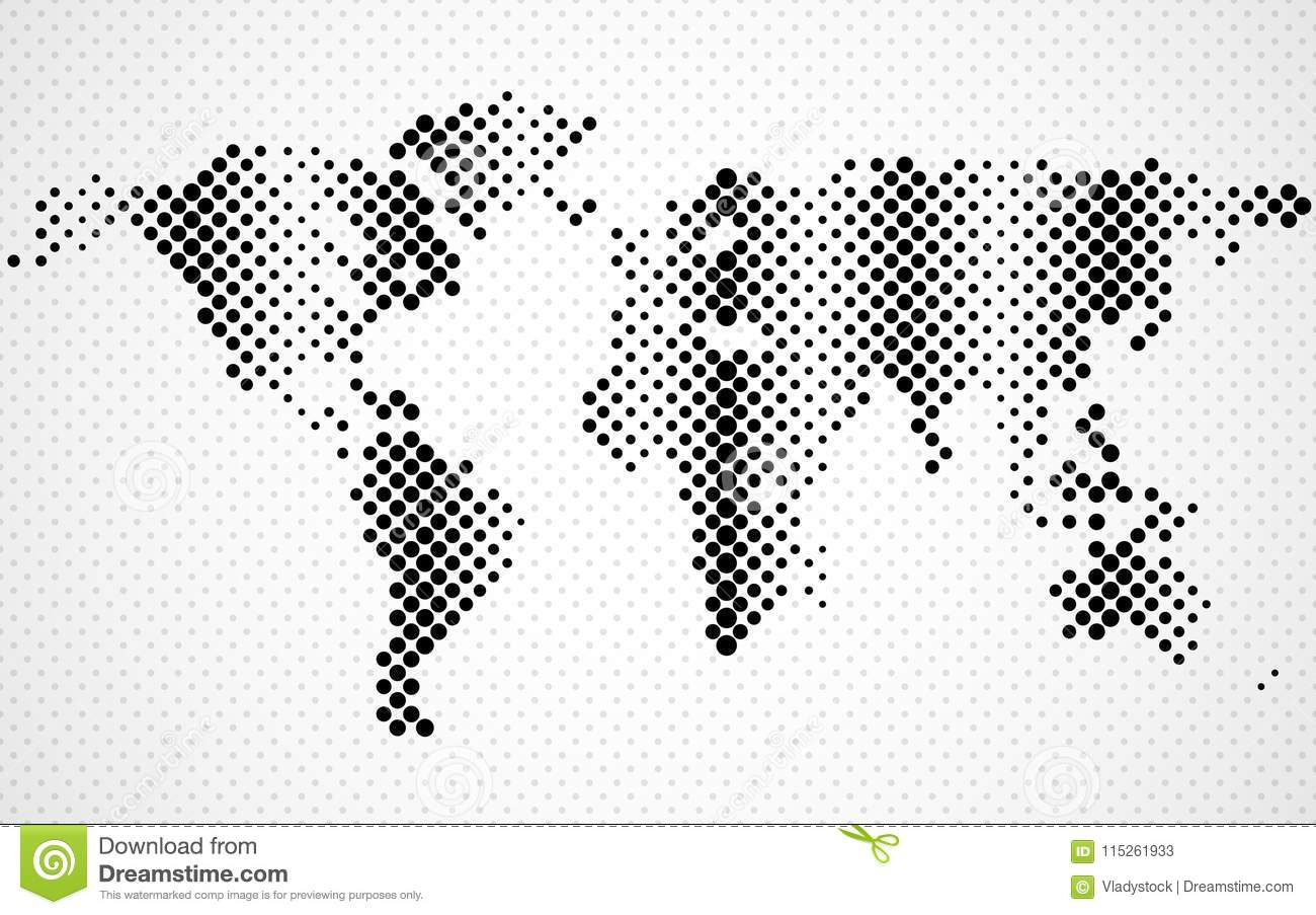 Abstract halftone world map stock vector illustration of globe download abstract halftone world map stock vector illustration of globe background 115261933 gumiabroncs Image collections