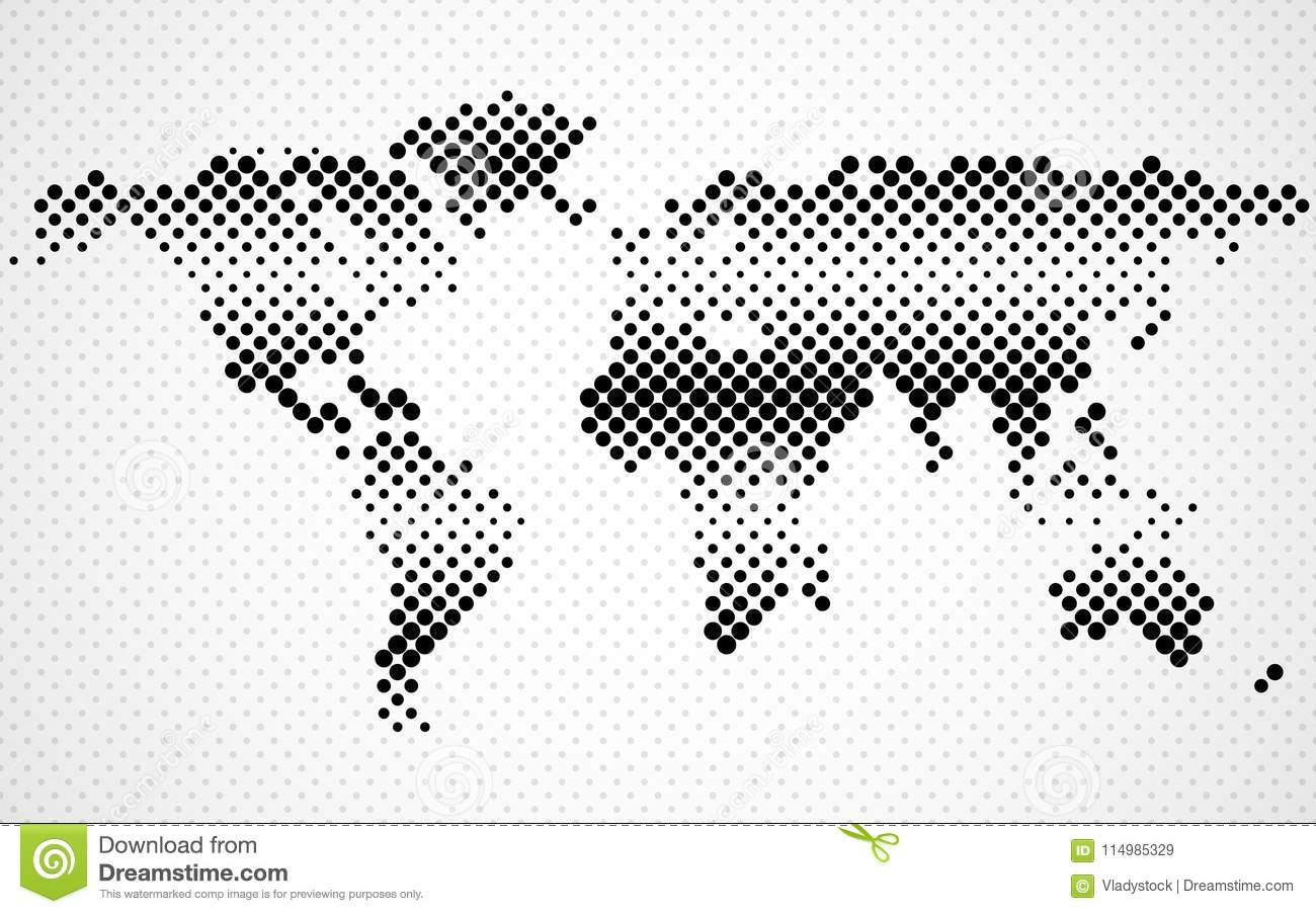 Abstract halftone world map dotted map stock vector illustration dotted map royalty free vector download abstract halftone world gumiabroncs Choice Image