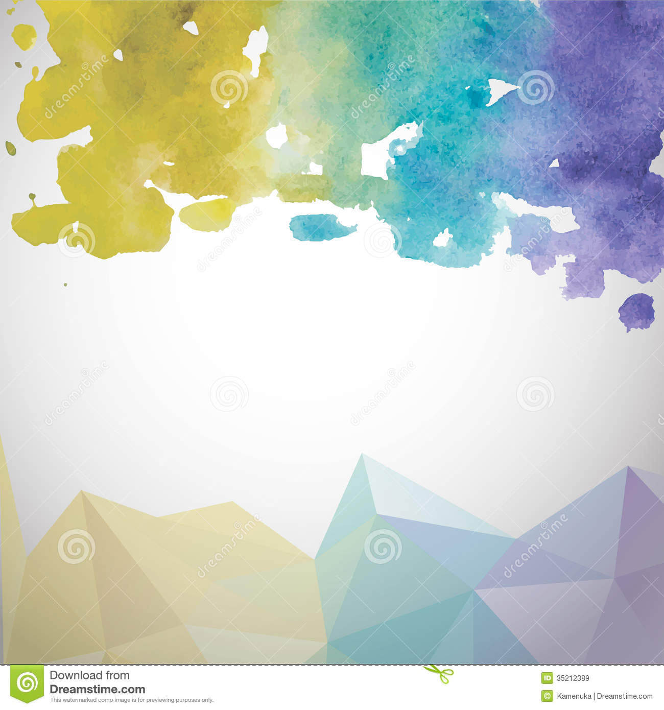abstract hand drawn watercolor background  vector royalty