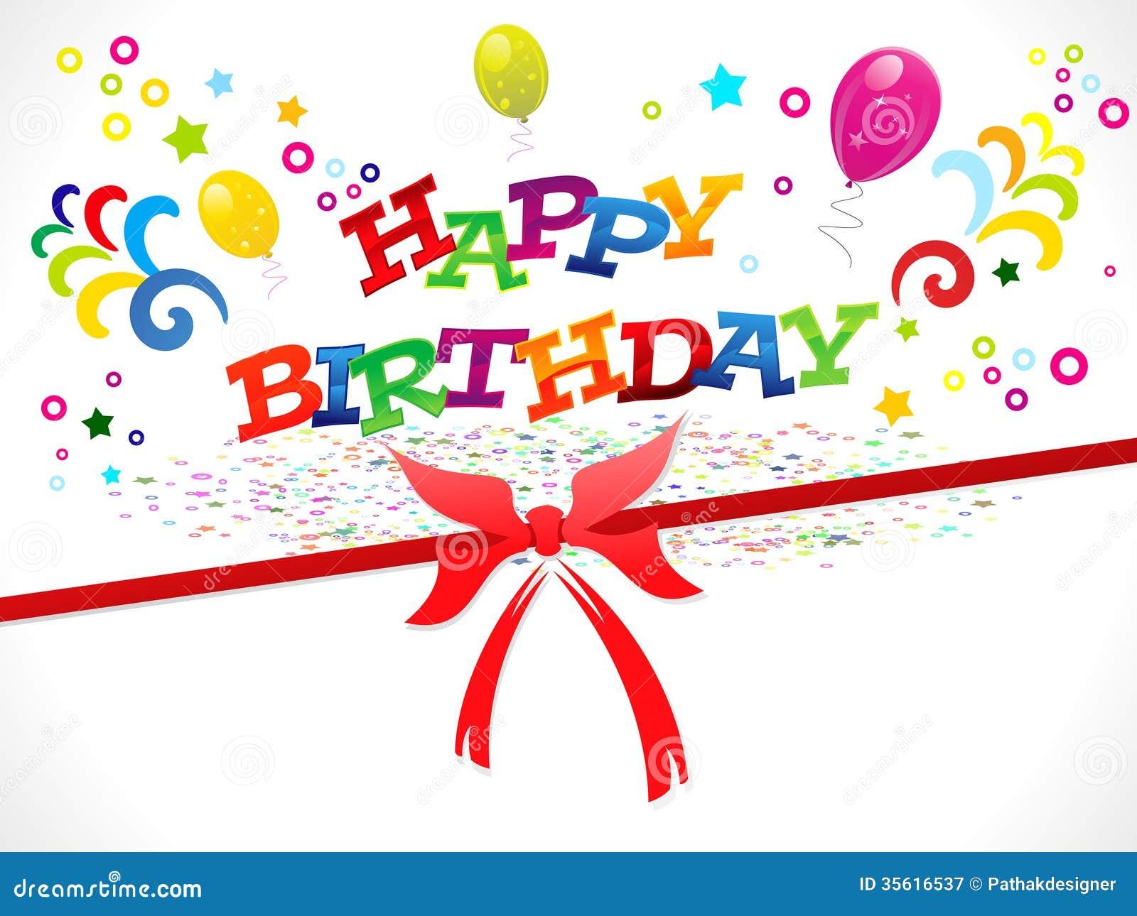 Abstract Happy Birthday Background Stock Vector