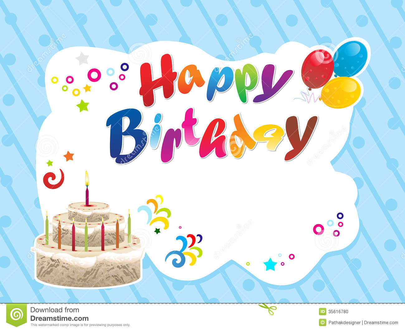Abstract Happy Birthday Background Stock Photo - Image: 35616780