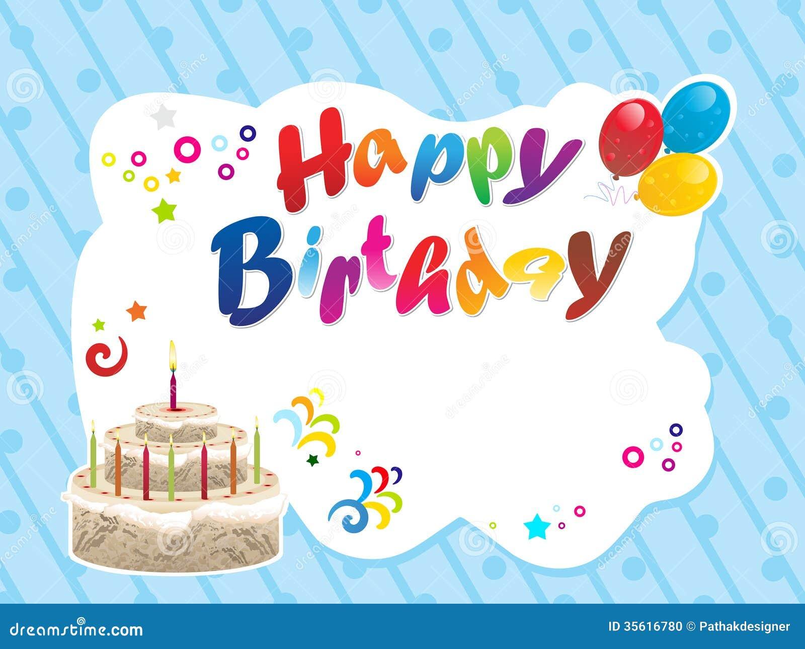 Abstract Happy Birthday Background Stock Photo Image