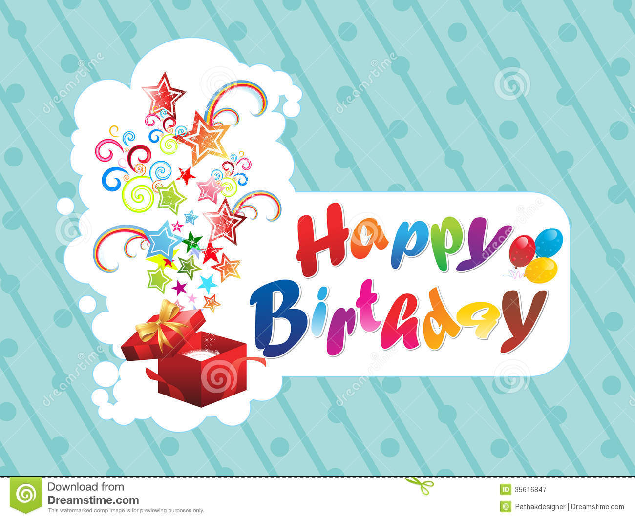 Royalty Free Birthday Images ~ Abstract happy birthday background stock vector image