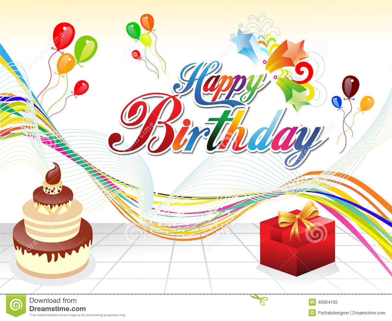 Abstract Happy Birthday Background Stock Vector - Image: 40964105