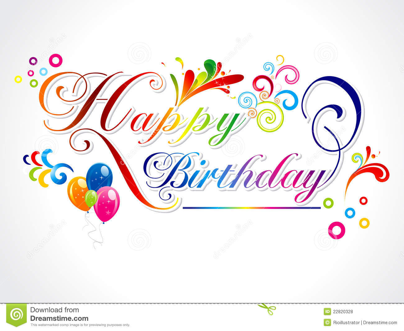 Abstract Happy Birthday Card Royalty Free Photos Image – Birthday Card Images