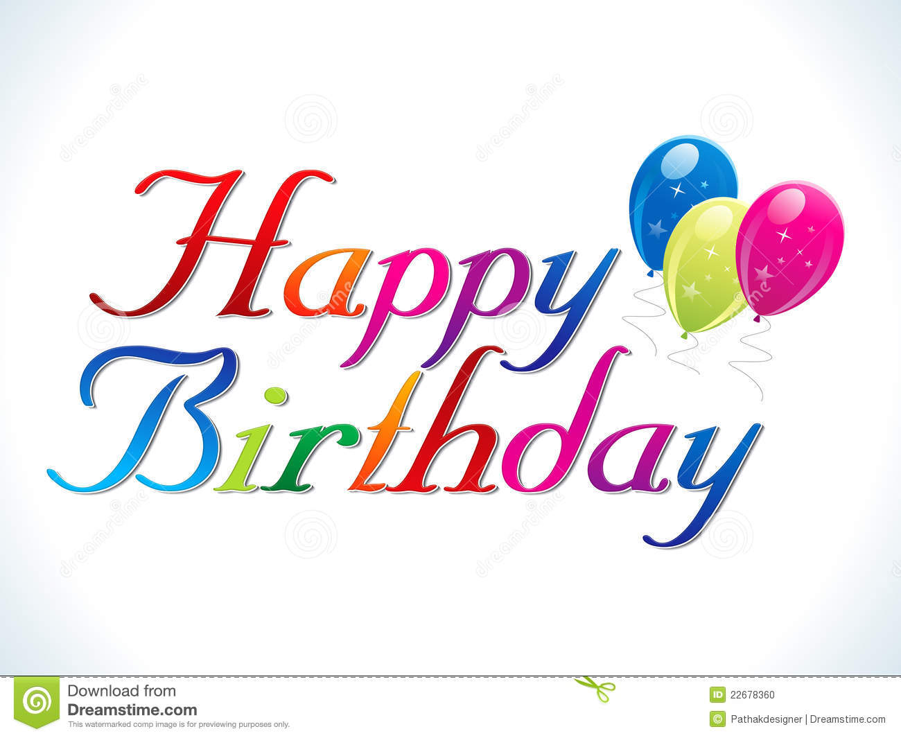 Abstract Happy Birthday Template Stock Photo   Image  22678360 AiX3y0VL