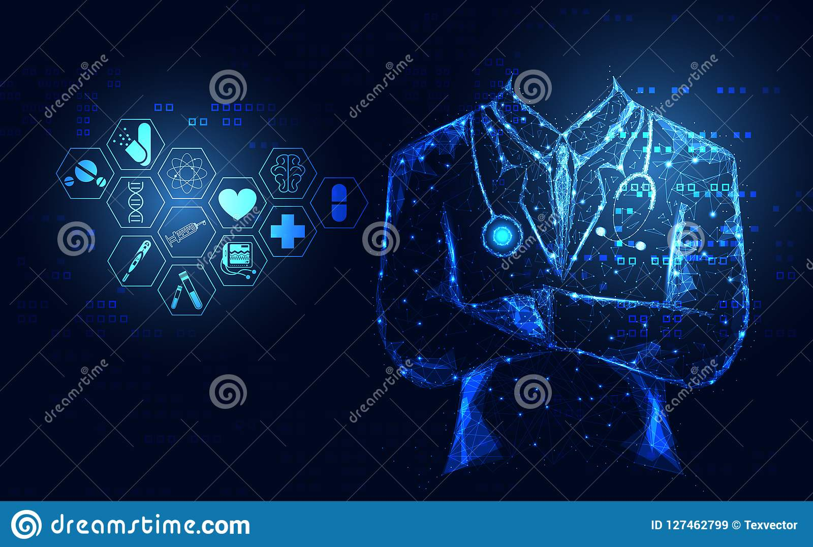 Abstract health medical science healthcare icon digital technology doctor concept modern innovation,Treatment,medicine on hi tech