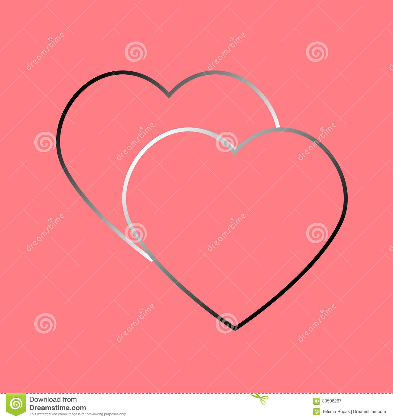 Abstract Heart Element For Design Vector Illustration For