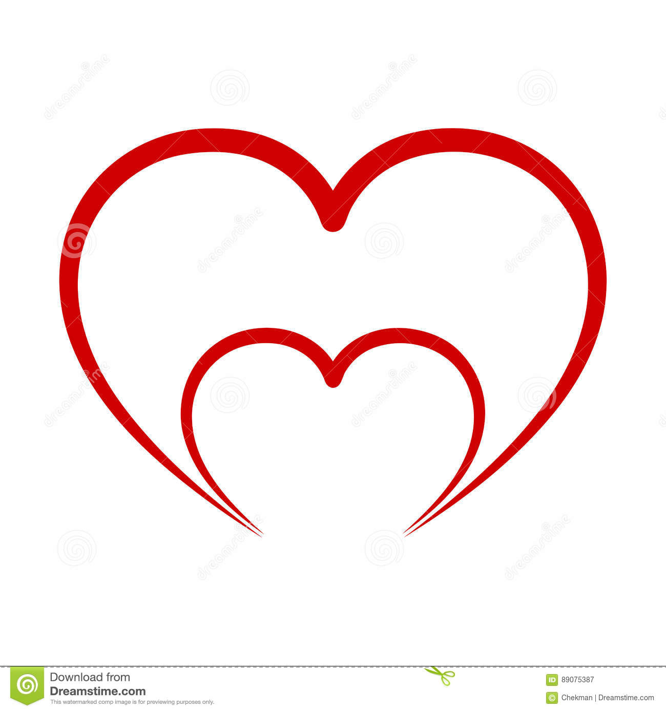 abstract heart icon vector illustration stock illustration rh dreamstime com heart icon vector free download heart icon vector ai