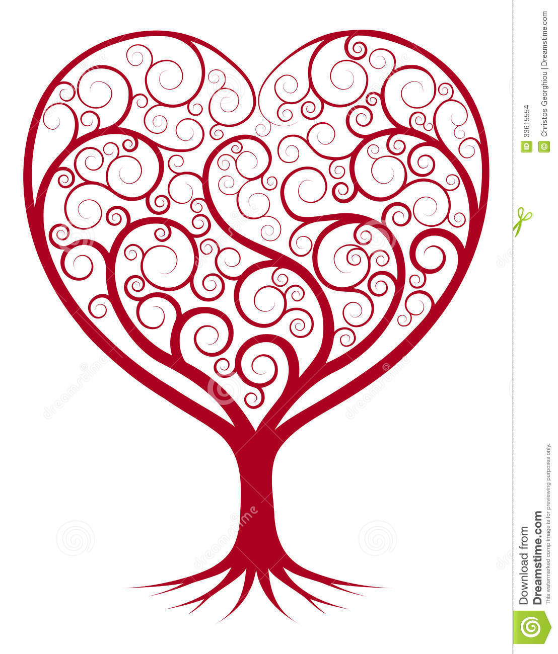 Abstract Heart Tree Stock Images Image 33615554