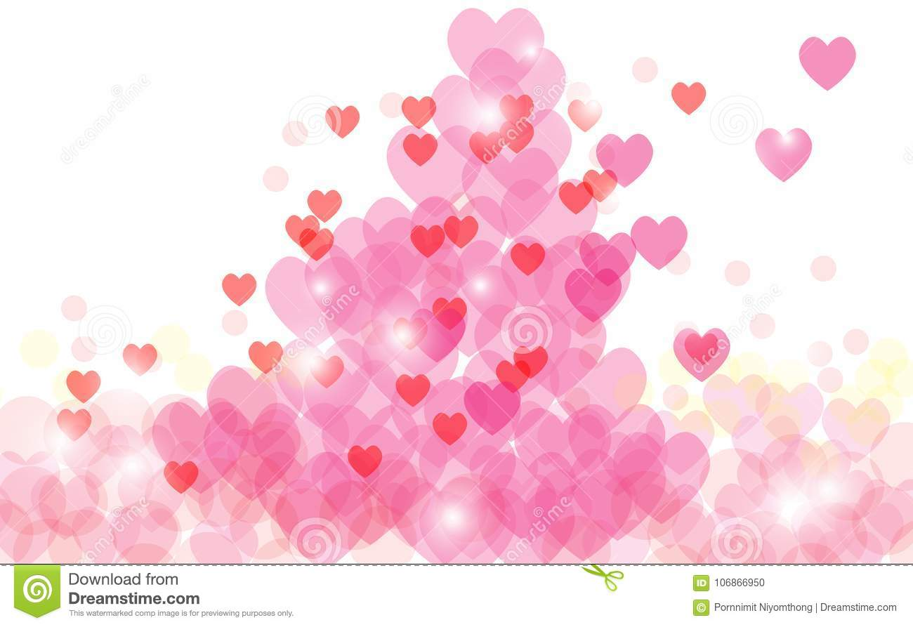 Abstract heart valentine background Festive defocused