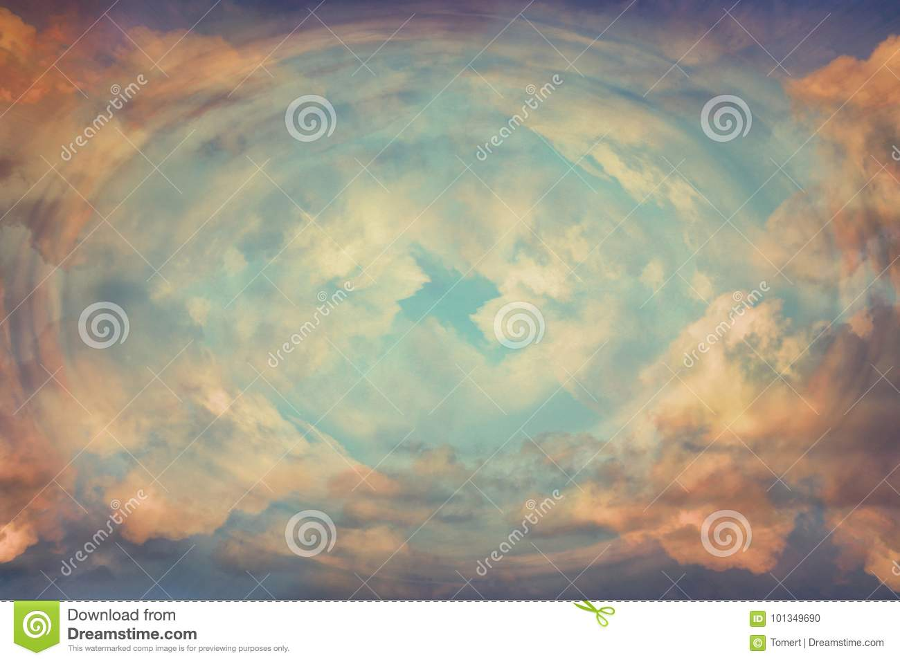 Abstract heavenly background, light from heaven. Revelation concept