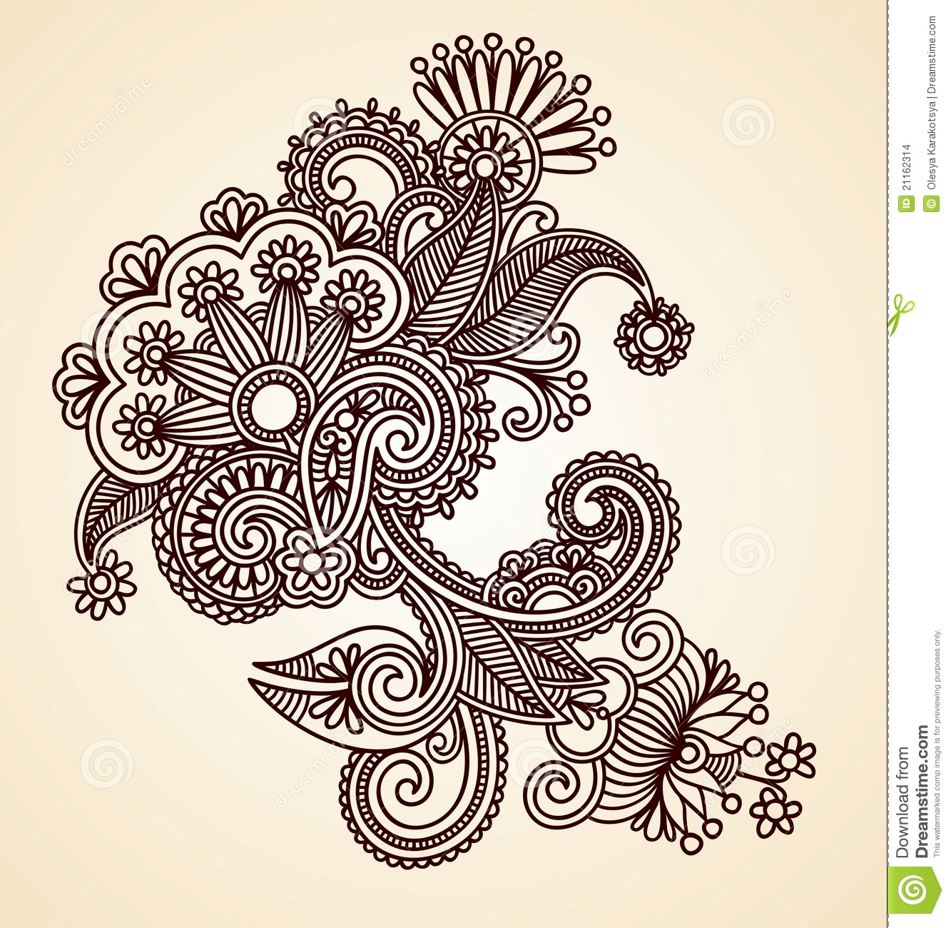 Abstract Henna Design Element Stock Images Image 21162314