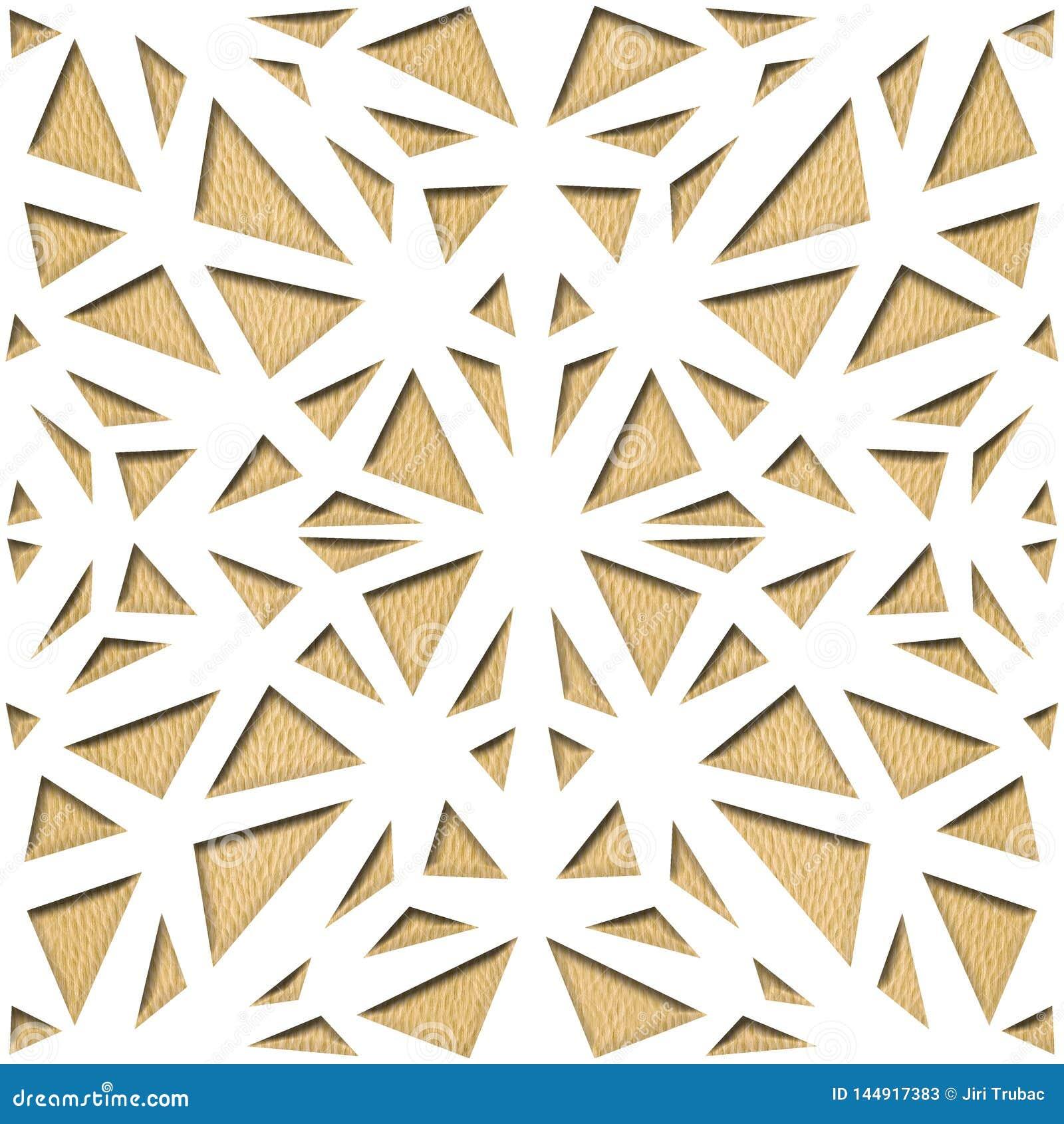 Abstract het met panelen bekleden patroon - Decoratieve opleverende stijl