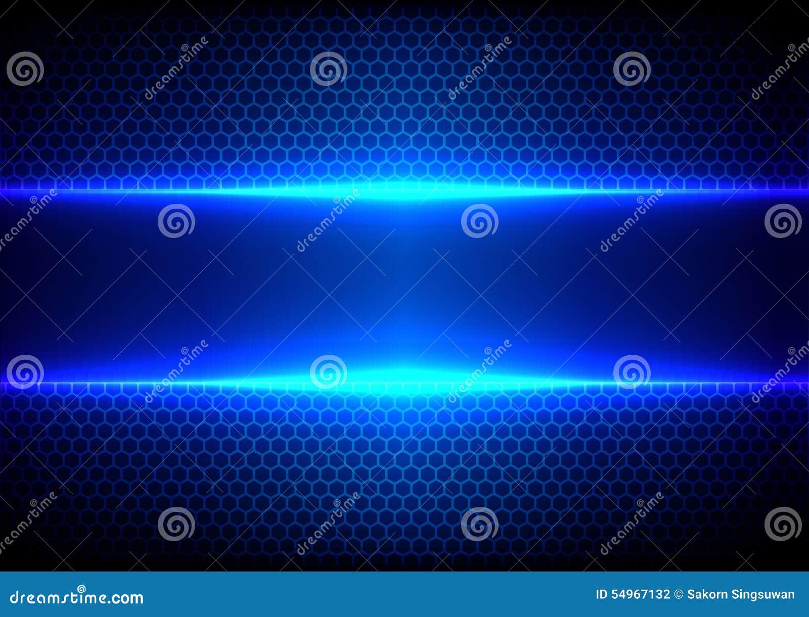 Blue Technology: Abstract Hex Light Blue Effect Blue Technology Stock