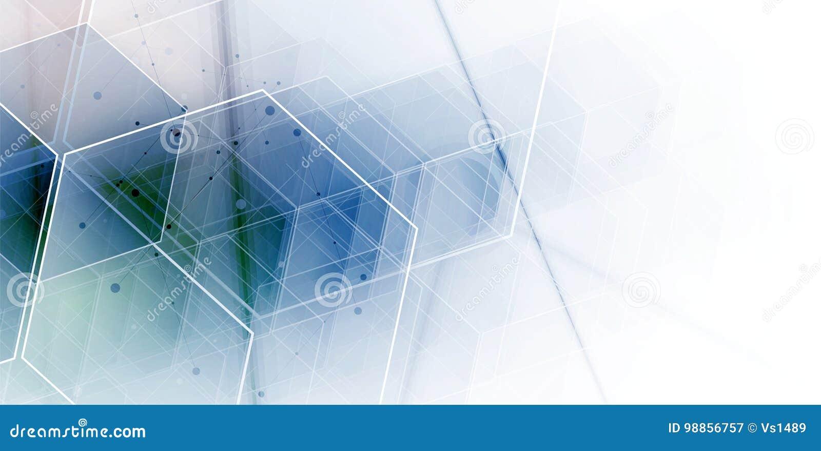 Abstract hexagon background. Technology polygonal design. Digita