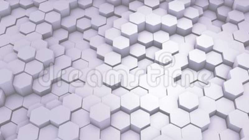 Abstract Hexagon Geometric Intro Animated Surface Loop Footage