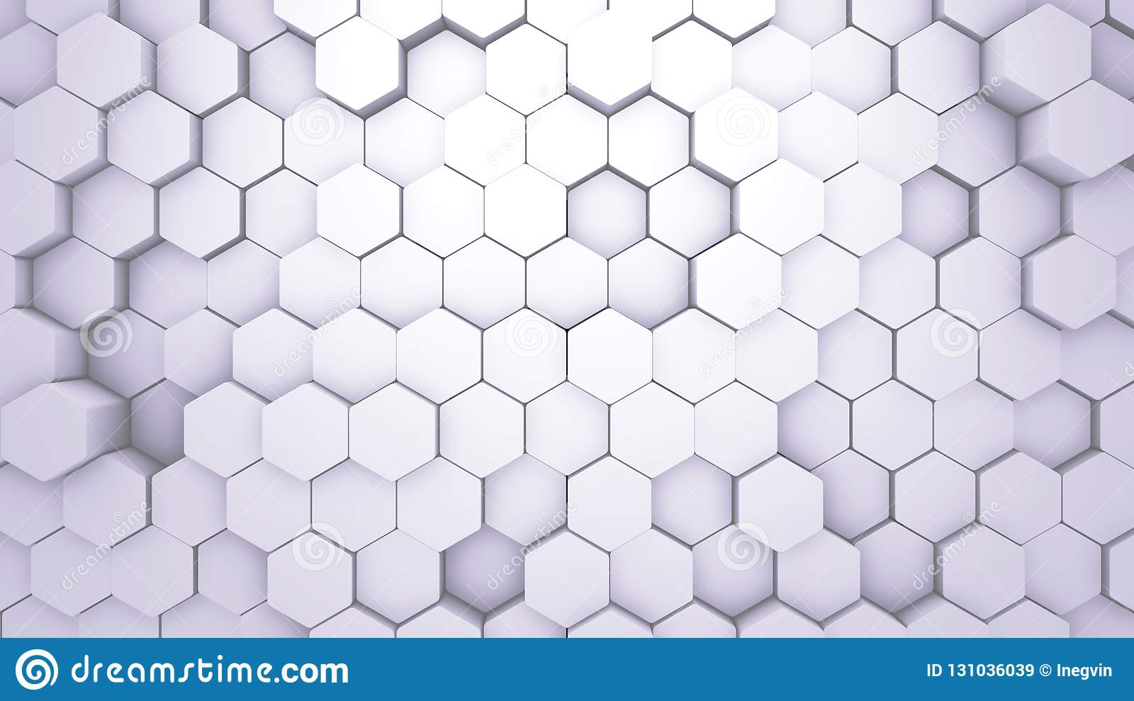 Abstract Hexagon Geometric Texture  White Surface