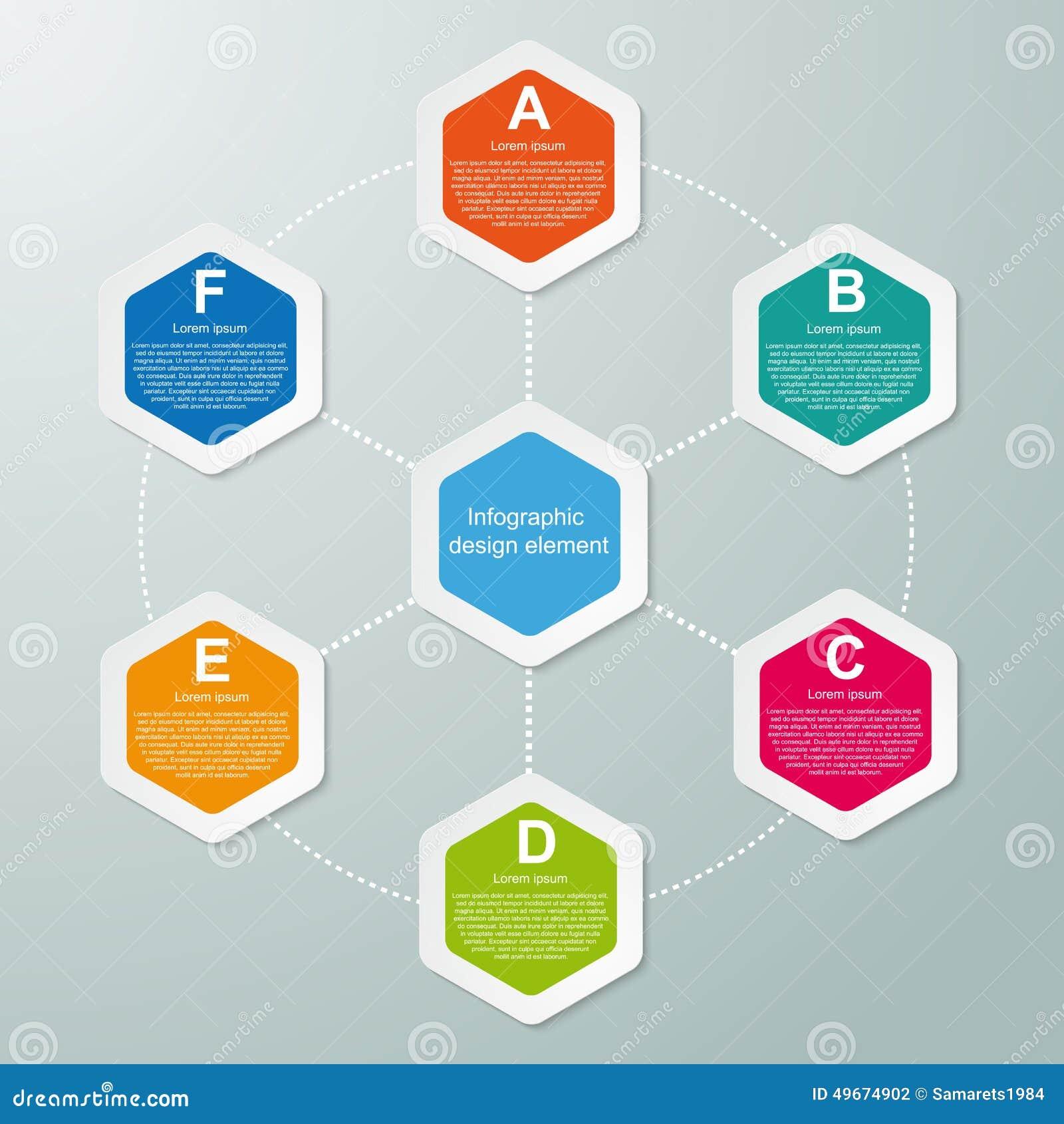 Hexagon graphic design