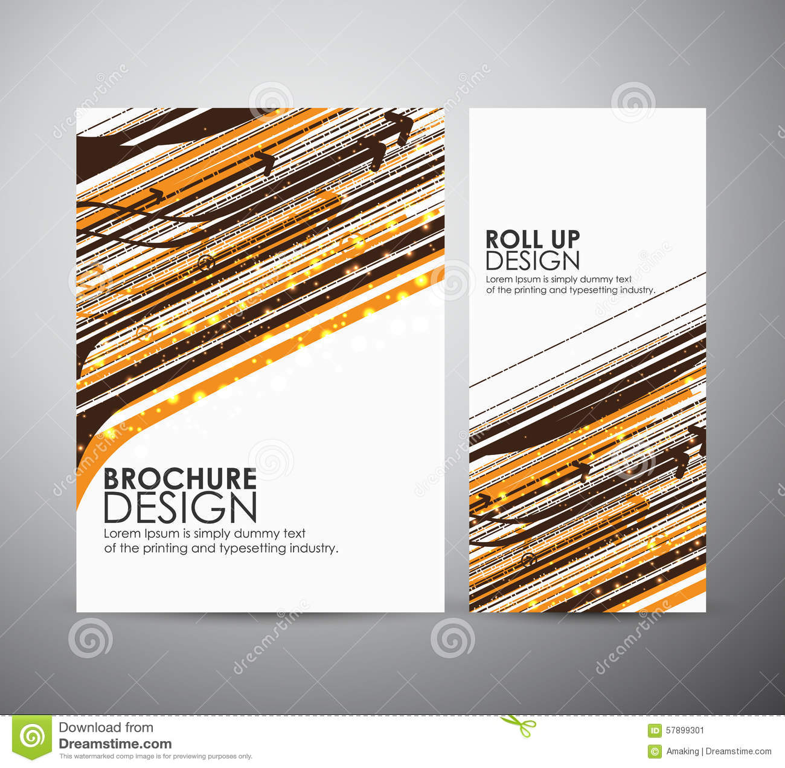 Hi tech brochure design vector illustration for Hawaii brochure template