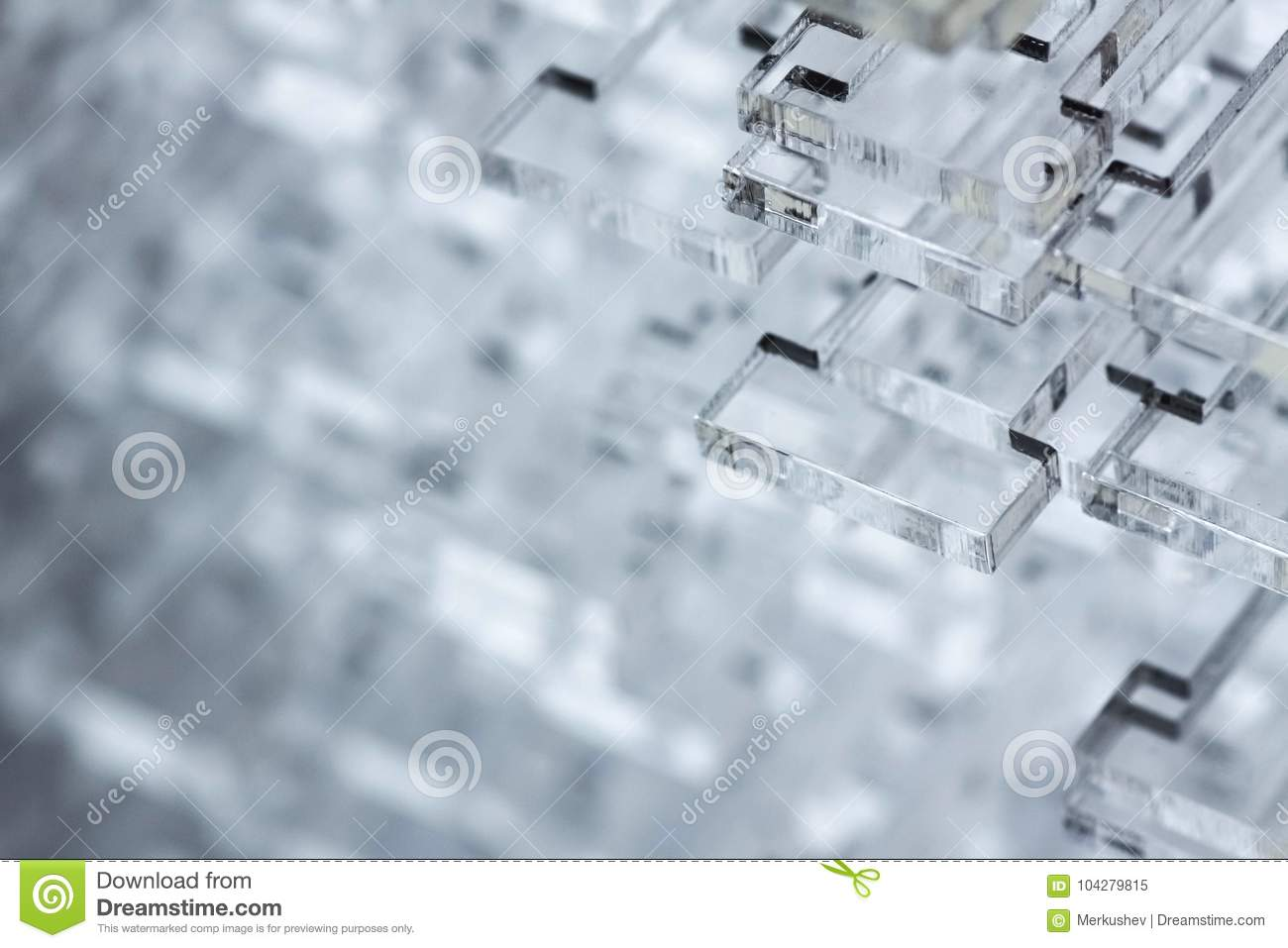 Download Abstract High-tech Background. Details Of Transparent Plastic Or Glass. Laser Cutting Of Plexiglass. Stock Image - Image of details, geometric: 104279815