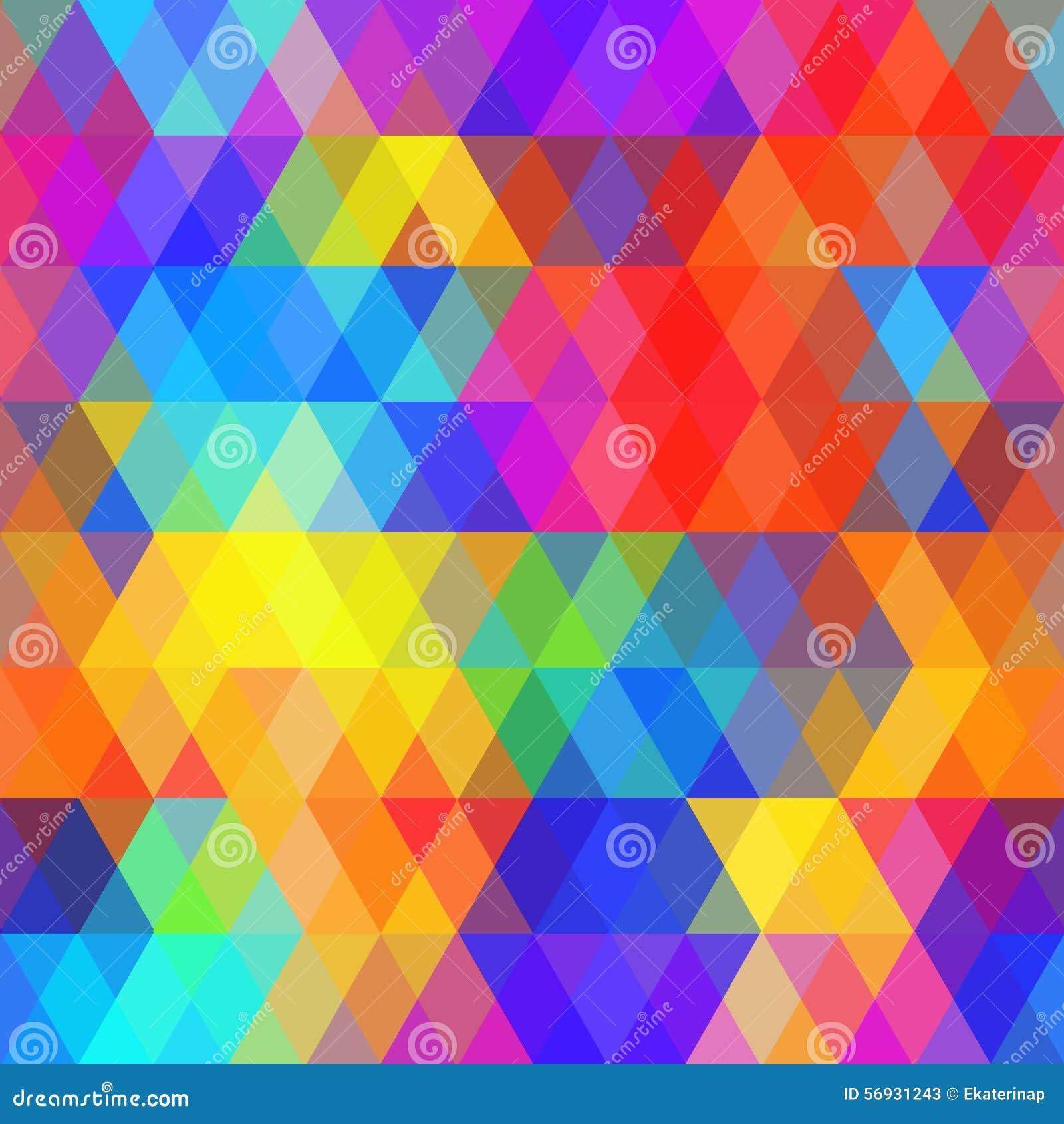 Abstract hipsters naadloos patroon met heldere gekleurde ruit Geometrische achtergrondregenboogkleur Vector