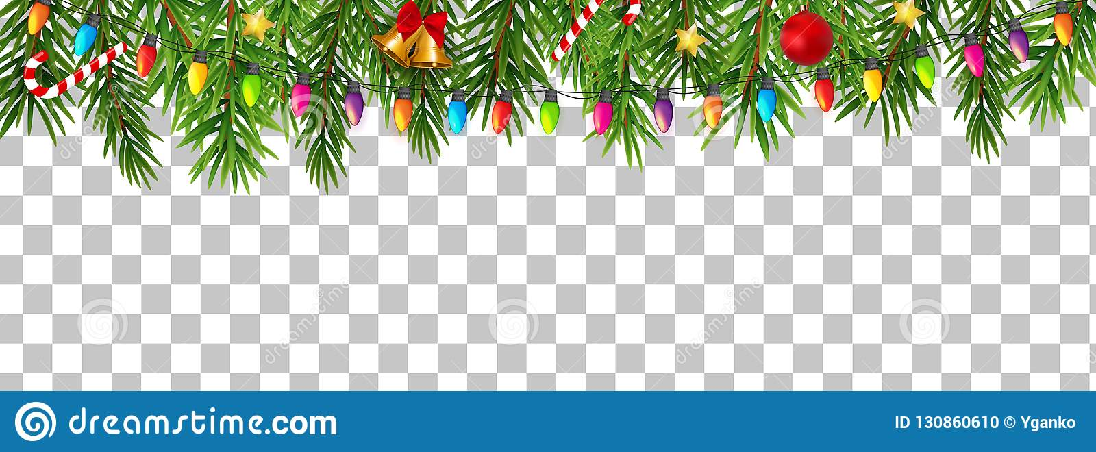 Abstract Holiday New Year And Merry Christmas Border On