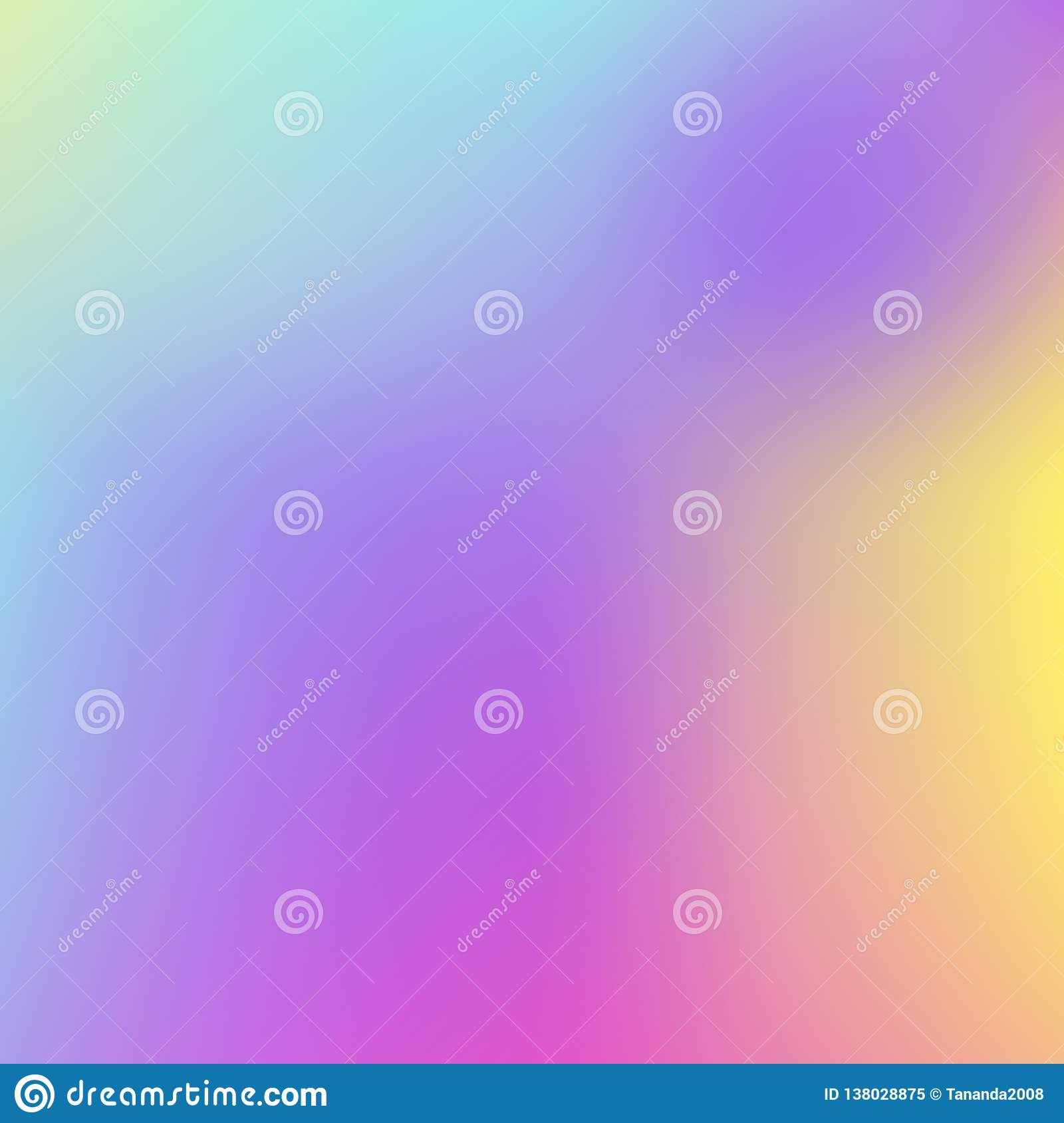 Abstract Holographic Background In Pastel Neon Color Design
