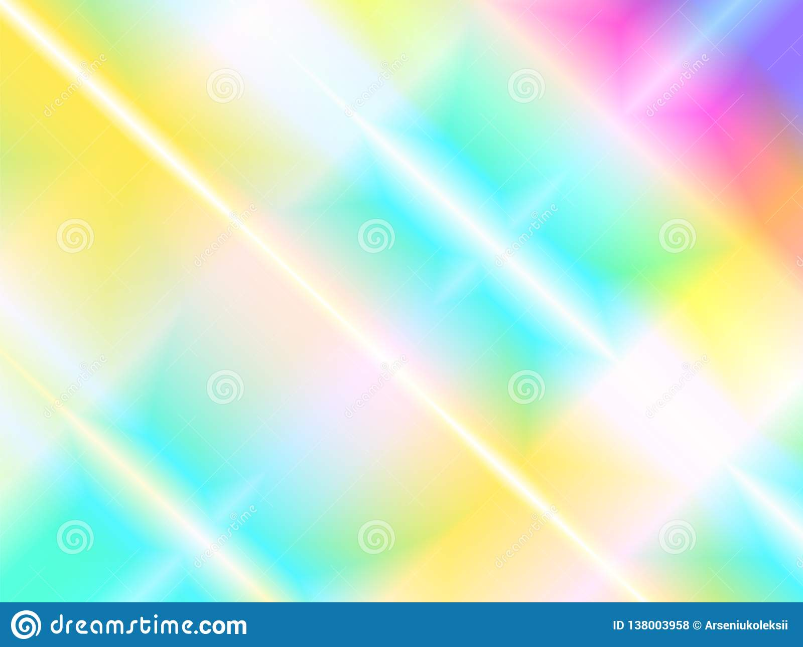 Abstract holographic background with rainbow beams of light from prism dispersion effect