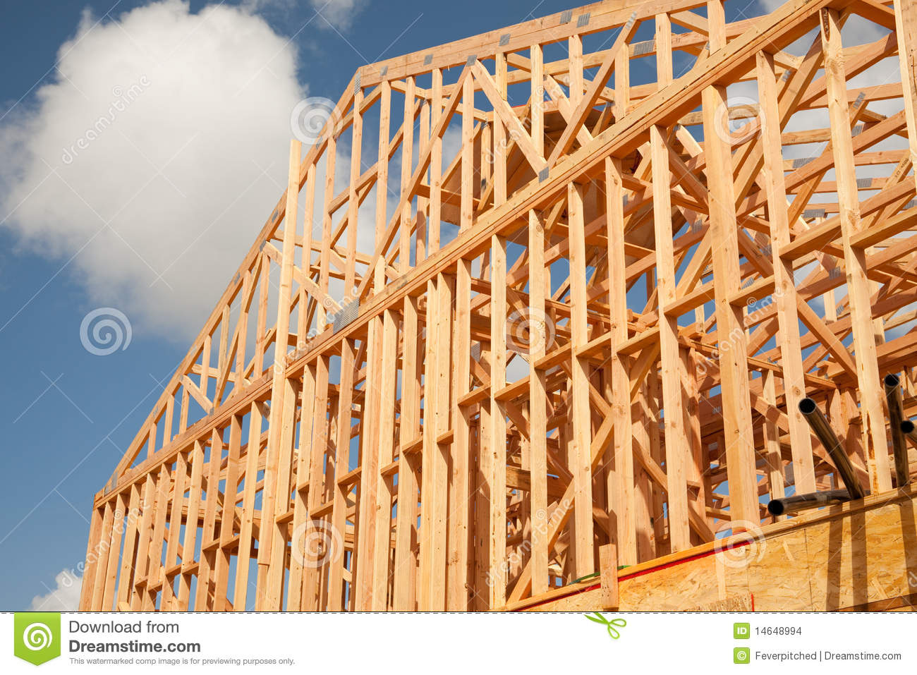 Abstract Home Construction Site Stock Images Image 14648994