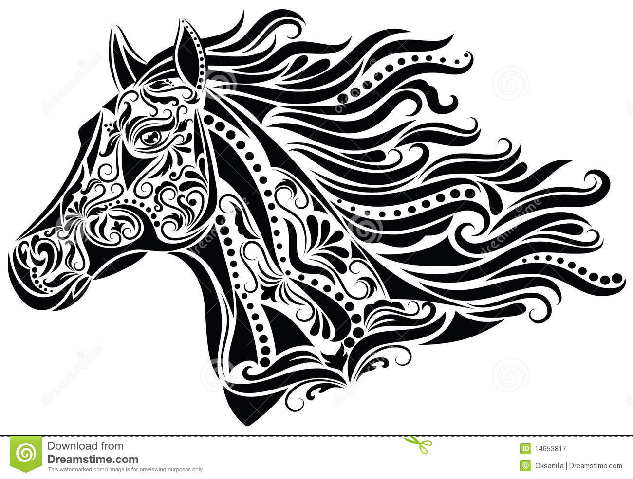 Abstract Horse Coloring Pages : Abstract horse royalty free stock photography image