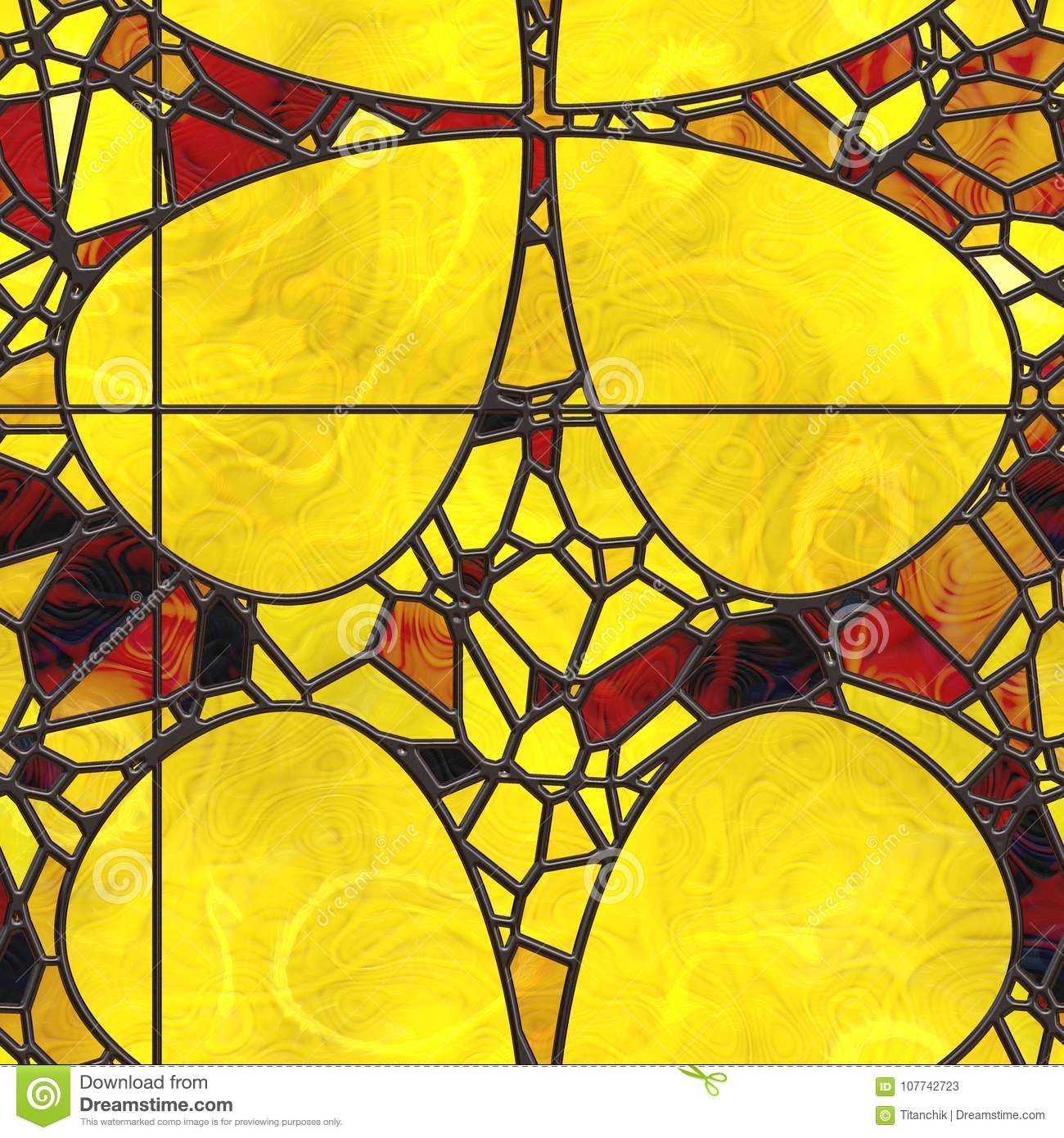Abstract- Hot Stained Glass Stock Illustration - Illustration of ...