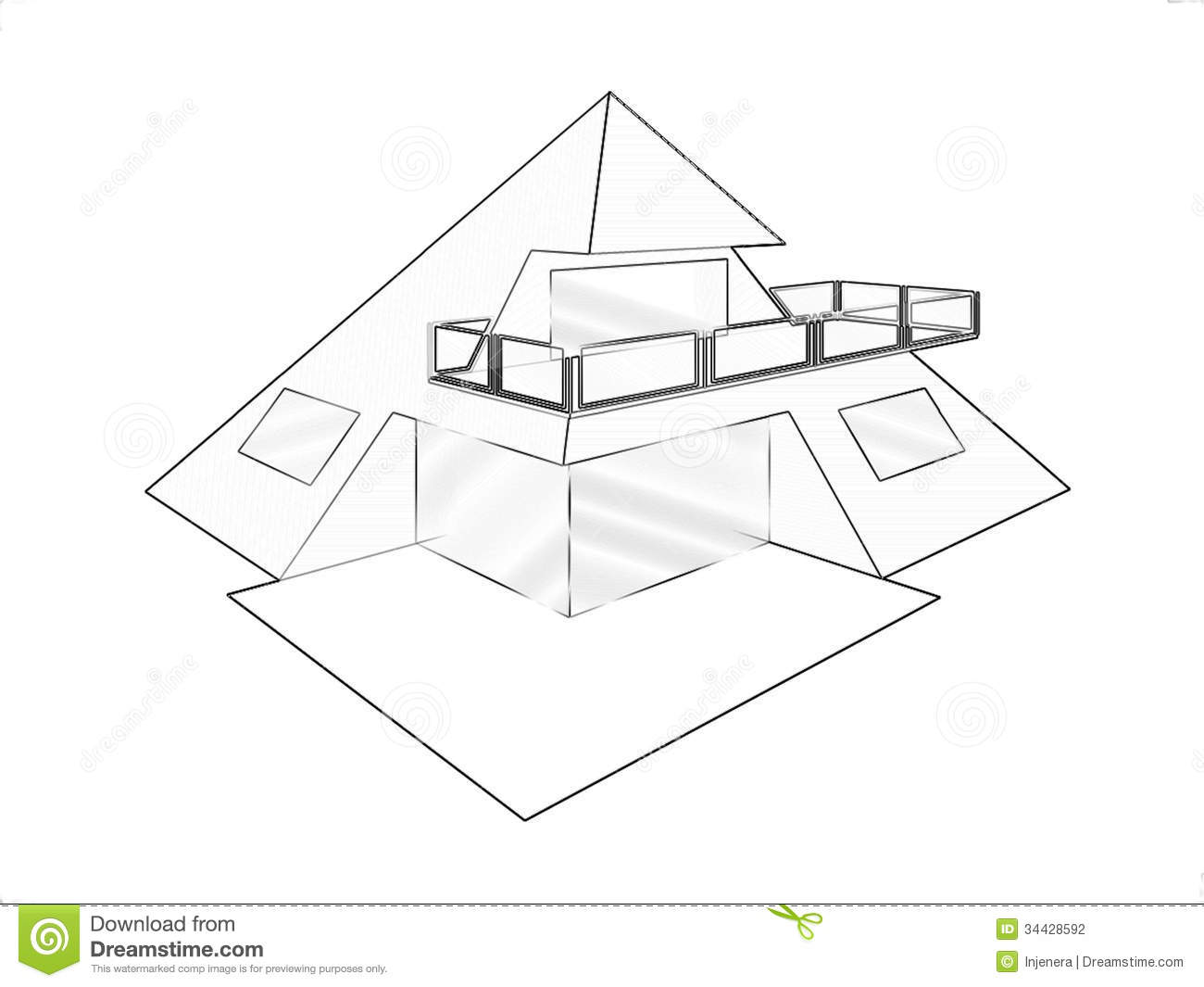 House Architecture Drawing drawing abstract house stock photography - image: 26209982