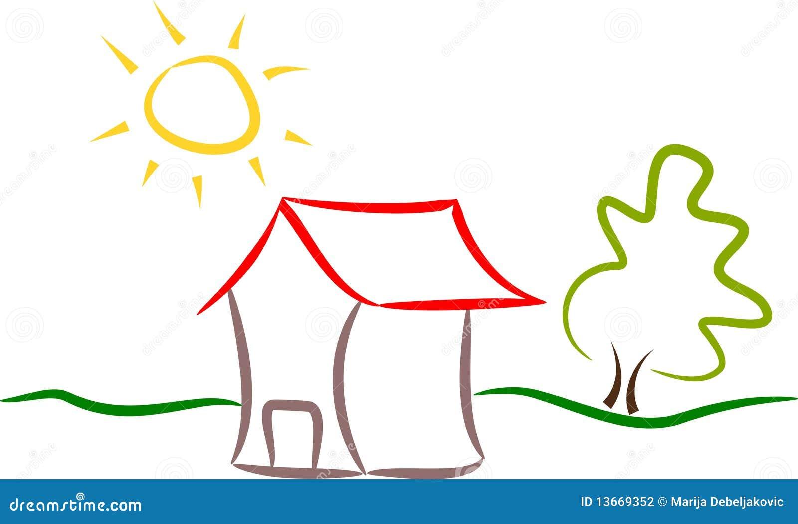 abstract house logo stock illustration image of drawing house illustration etsy house illustration etsy