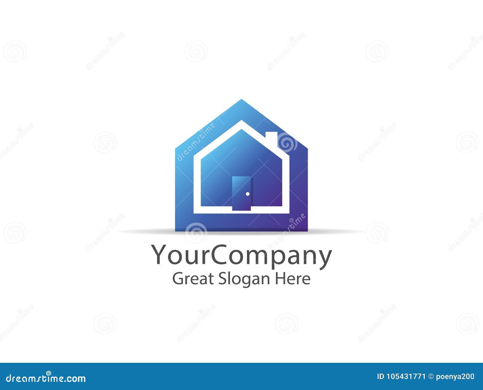 Abstract House Logo Icon Design. Home Sign Concept For Real Esta ...