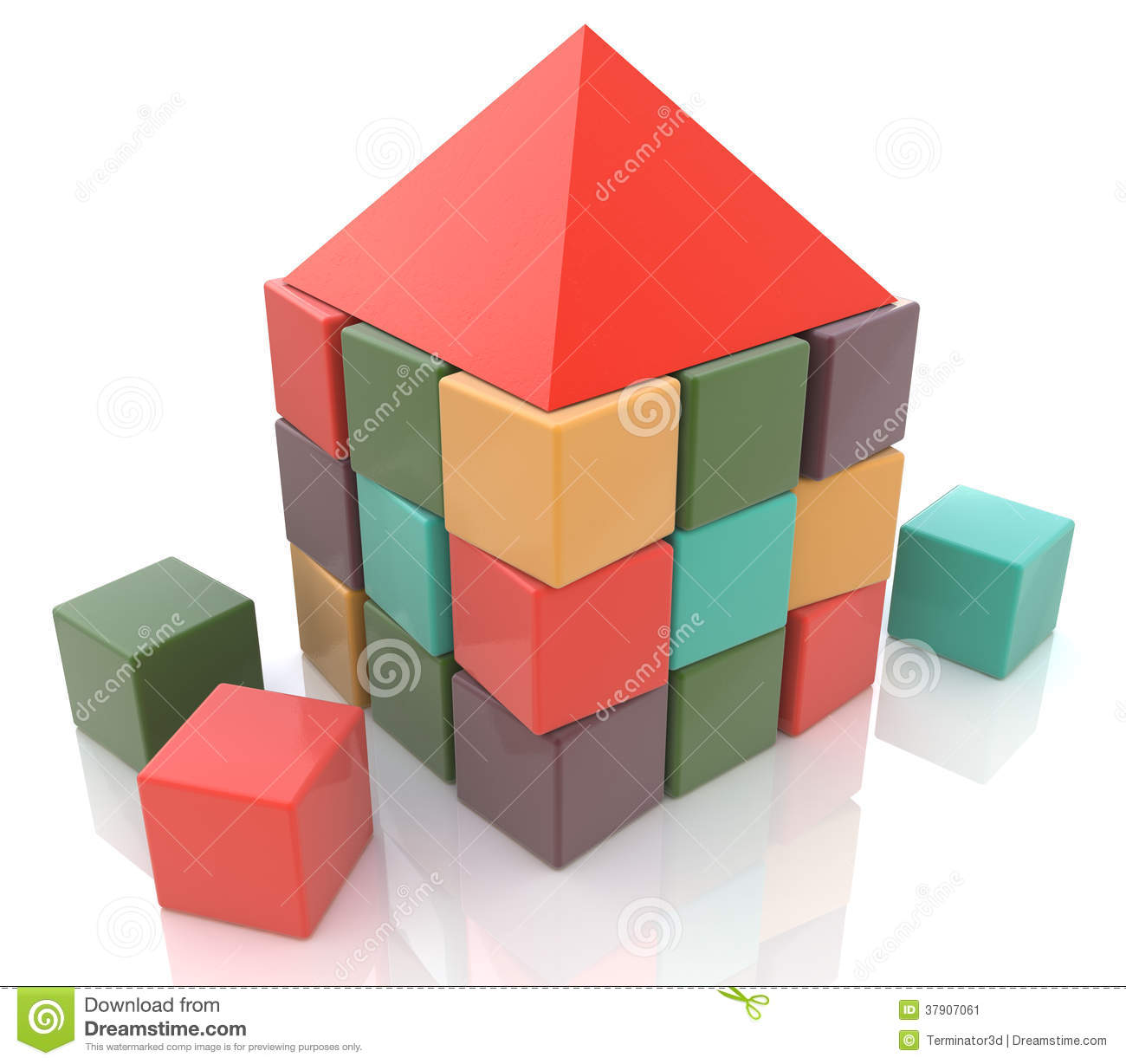Building blocks abstract stock photos