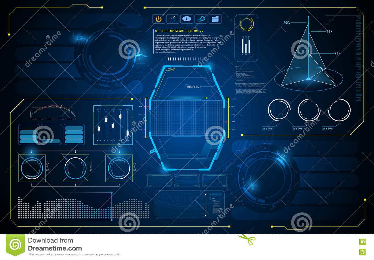 Abstract hud interface ui future virtual artificial intelligence abstract hud interface ui future virtual artificial intelligence innovation concept design background template toneelgroepblik Images