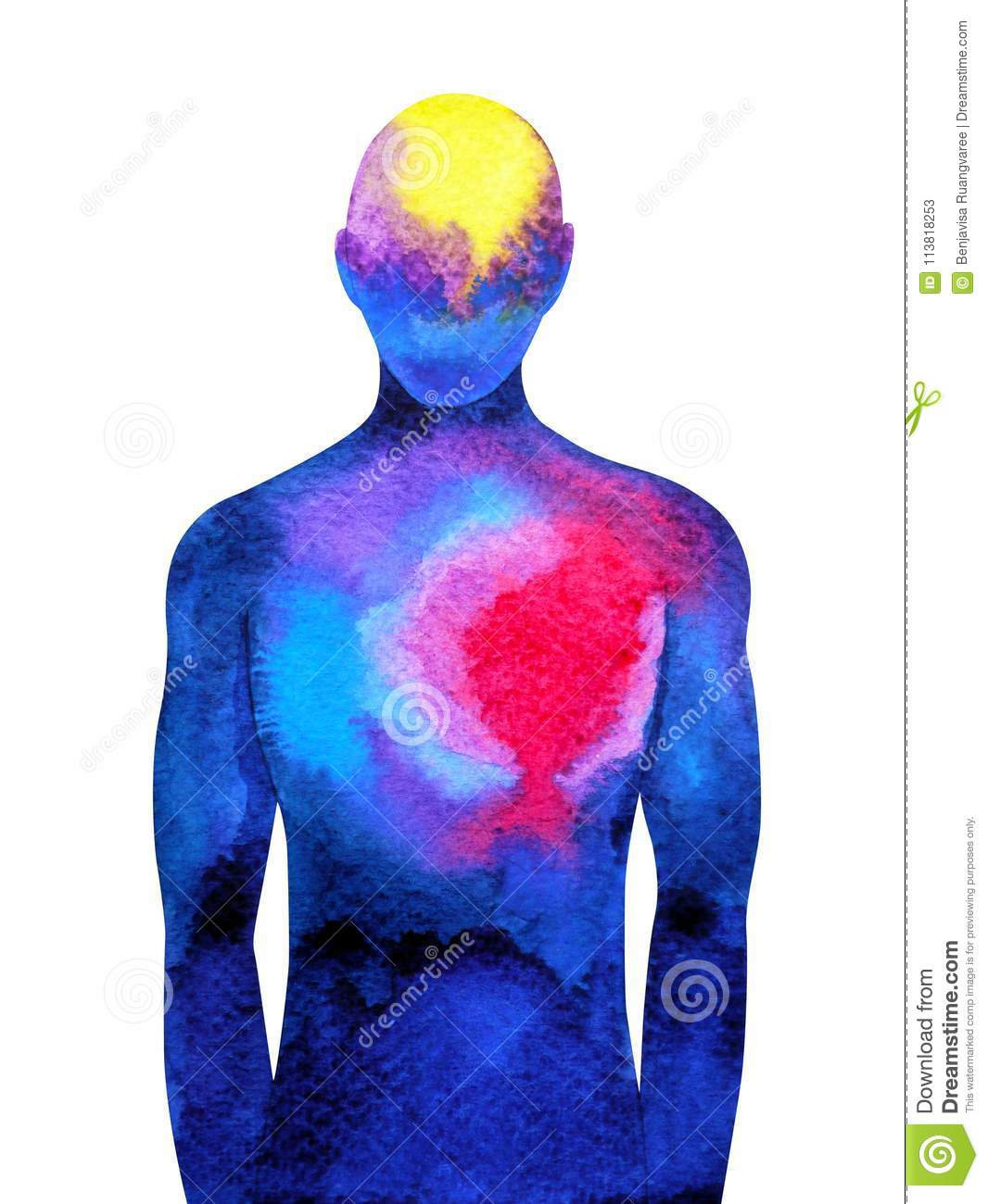 Abstract Human Connection Mind And Body Connect Brain And