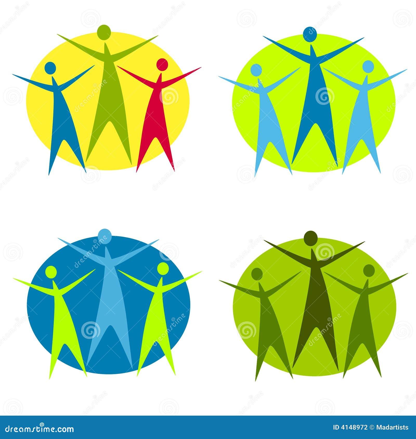 Abstract Human Figure Logos 2