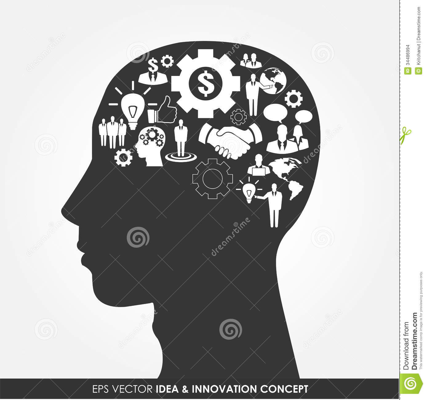 Abstract Human Head Silhouette Stock Vector - Illustration of ... for Innovation Icon Png  10lpwja