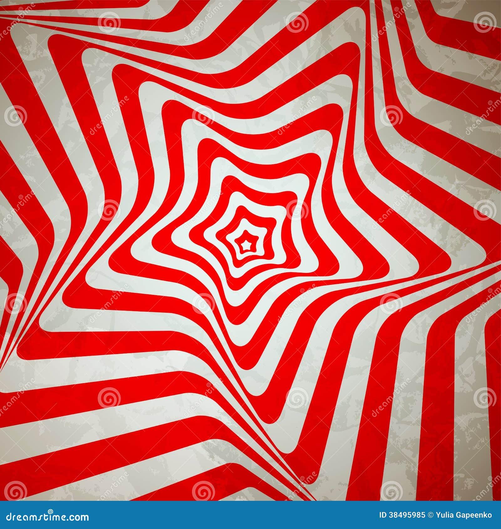 Abstract Hypnotic Retro Background. Vector Stock Vector