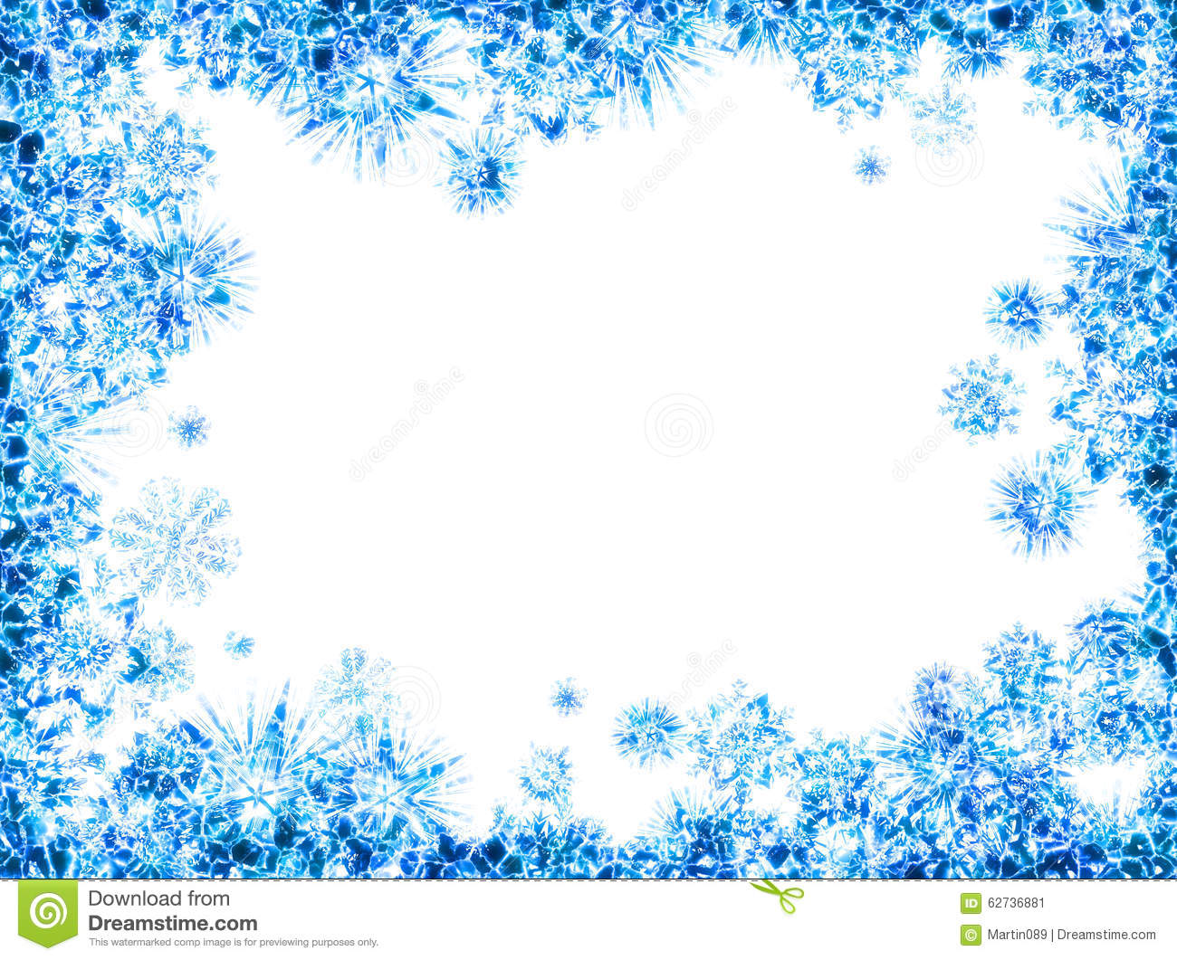 Abstract Ice Frame Stock Illustration - Image: 62736881