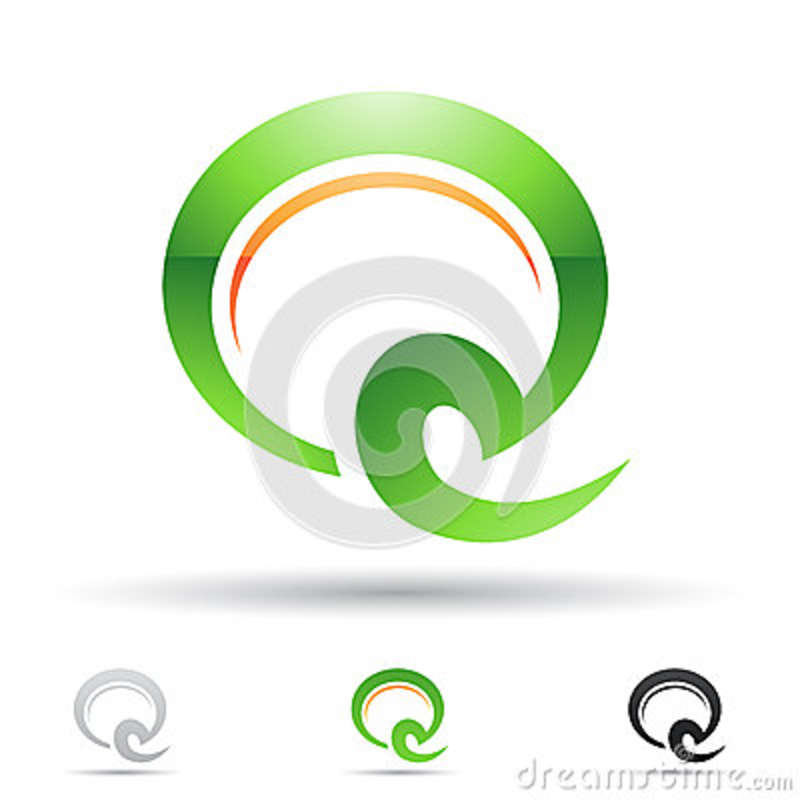 Abstract Icon For Letter Q Stock Vector. Illustration Of