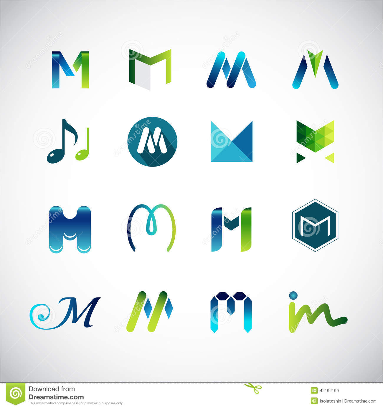 Abstract Icons Based On The Letter M Stock Vector - Image: 42192190