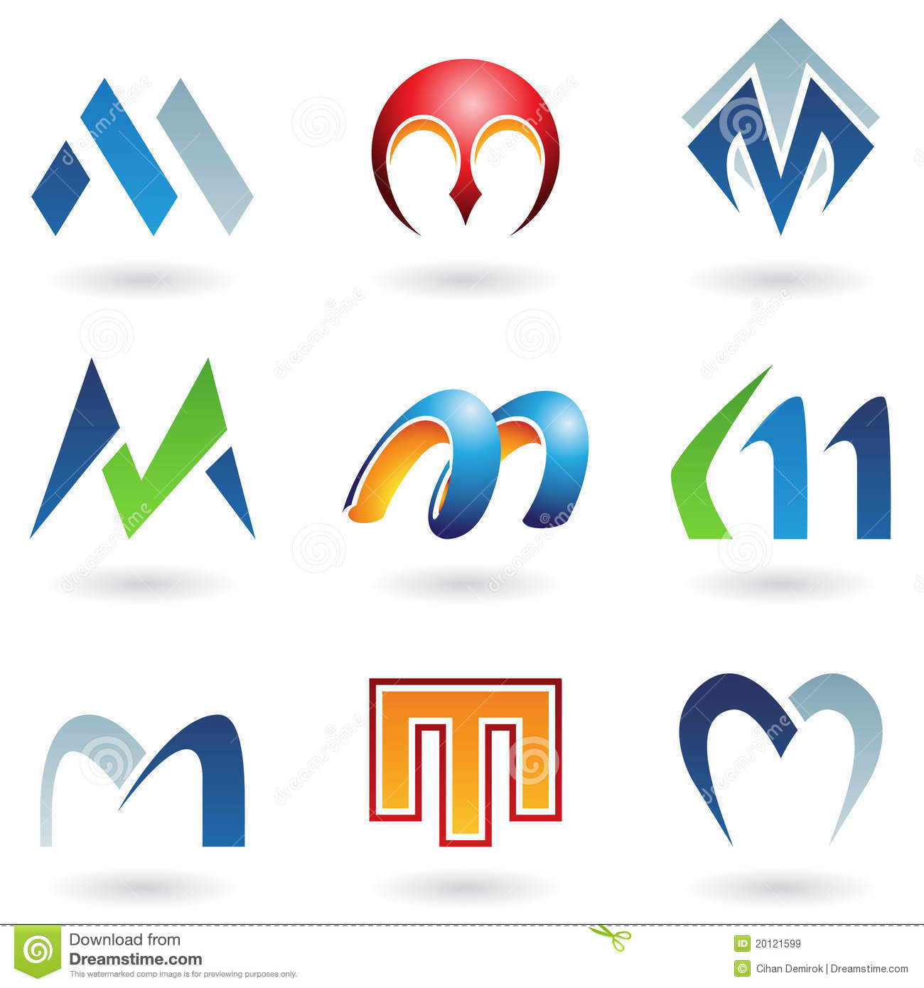 Abstract Icons For Letter M Royalty Free Stock Images - Image ...