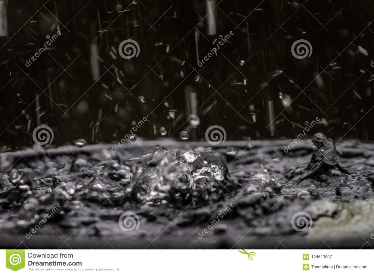 Diffusion of water from the rain make shape unexplainable. But the beauty of nature.