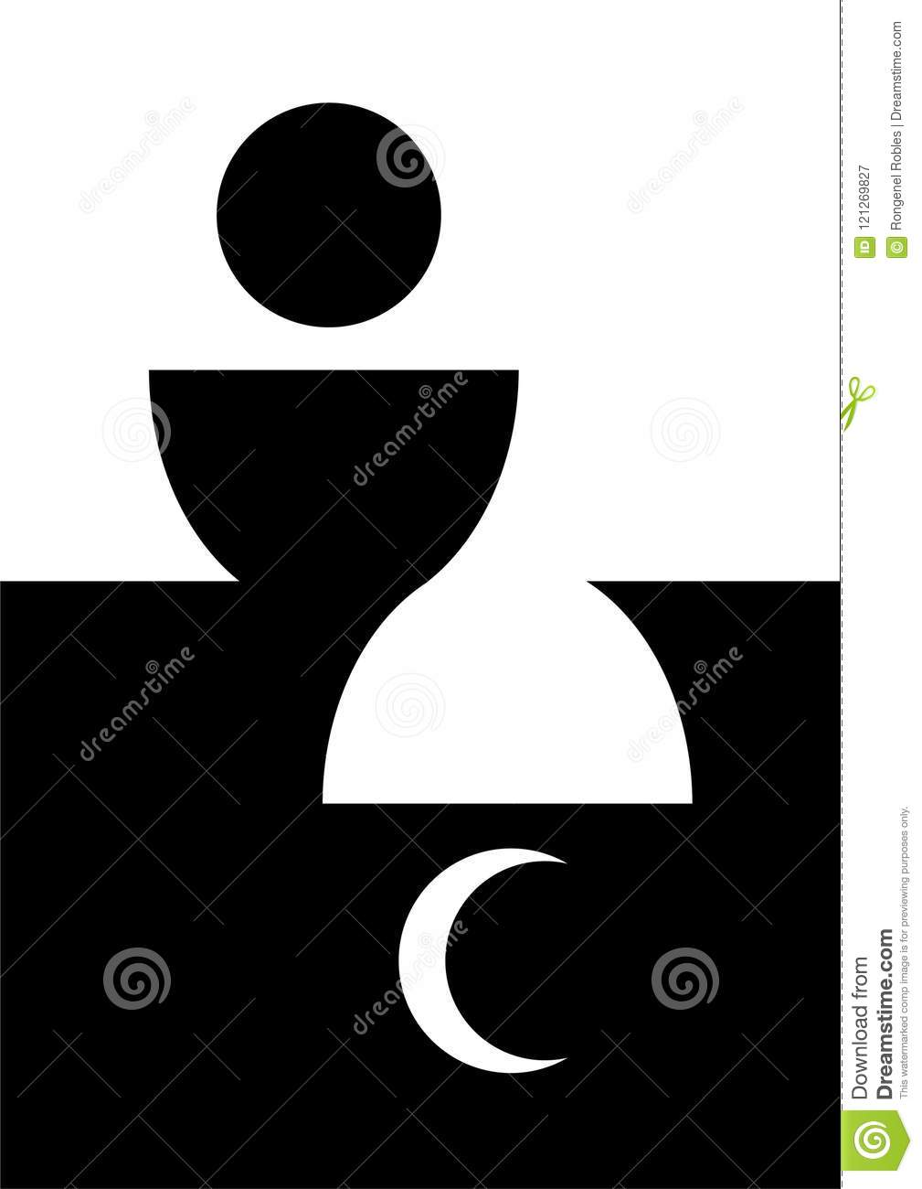 Abstract Image Of Host Bread Chalice And Religious Symbols Stock