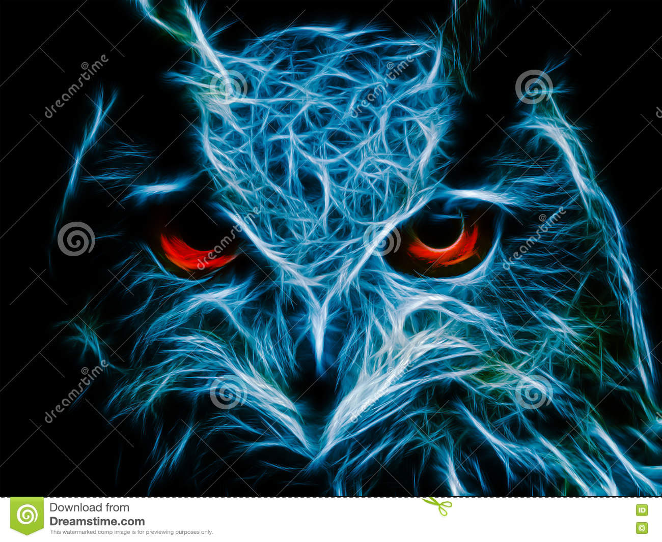 abstract image owl dark color stock illustration illustration of