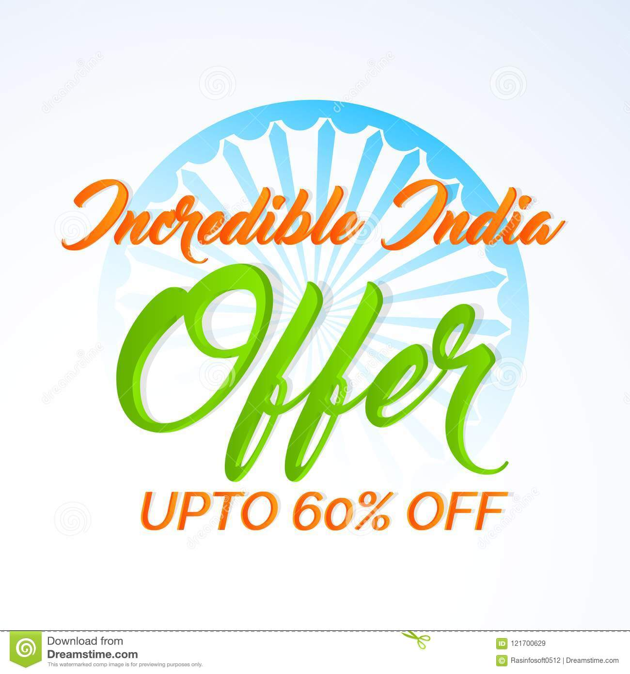 Abstract For Independence Day Of India Or 15th Of August Stock